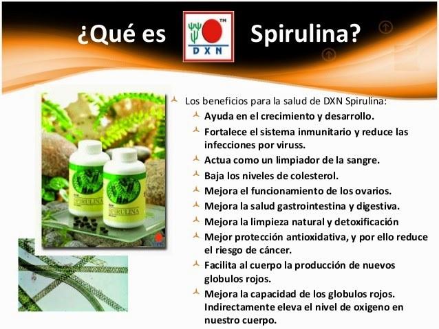 DXN Spirulina para que enfermedad sirve. – Afiliacion